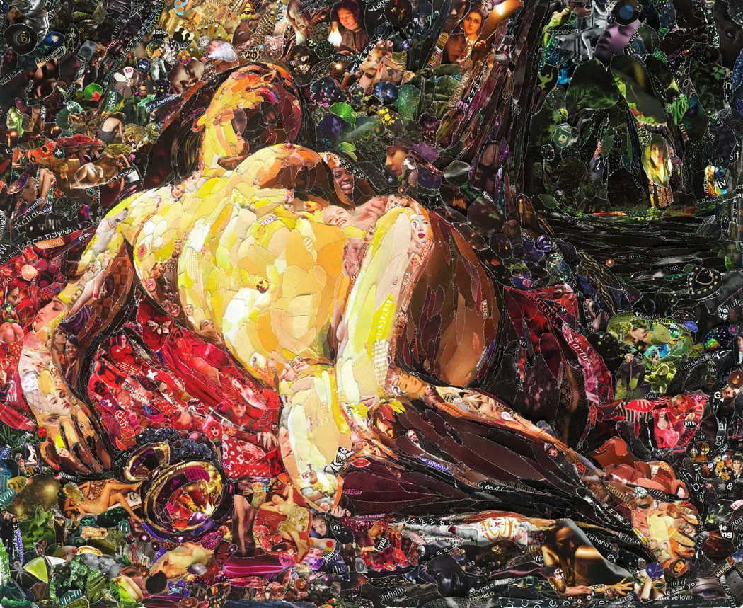 La bacchante after Courbet, Vik Muniz (2011)