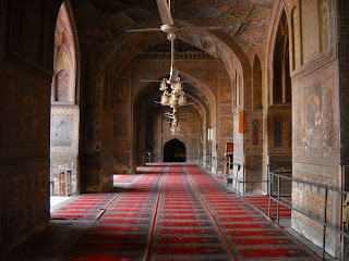 Inside the Badshahi Mosque