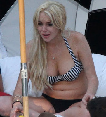 lindsay lohan 2011 bikini. 2011 Fat People Art Week fat