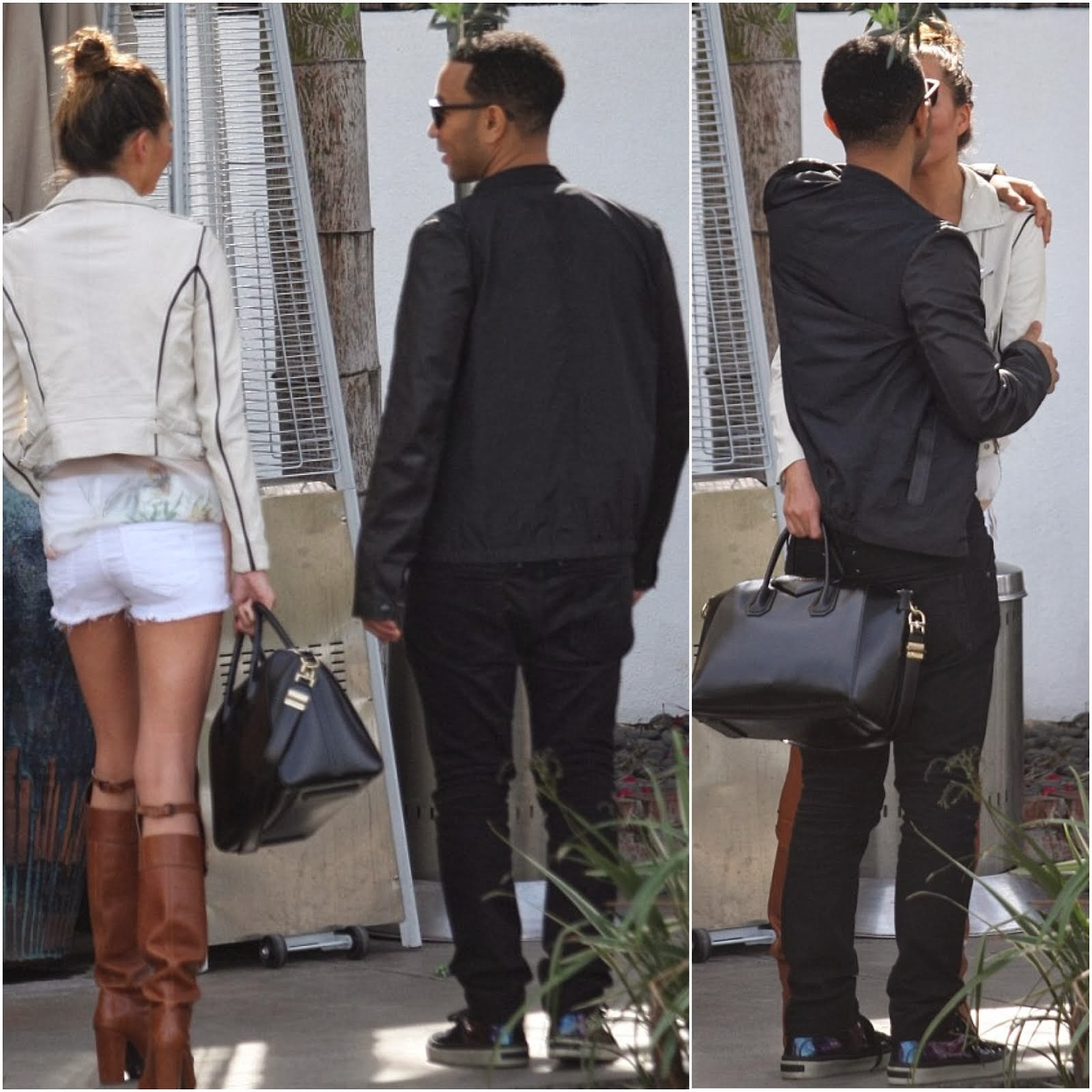 John Legend's Givenchy t-shirt and Jimmy Choo sneakers - Hollywood Street Style
