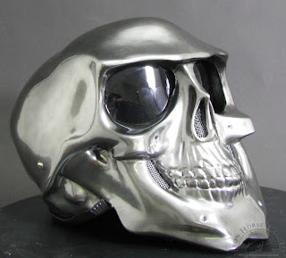 Chrome Skull Novelty Motorcycle Helmet