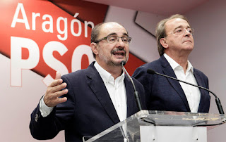 Lambán presidente de Aragón con el apoyo de CHA y Podemos