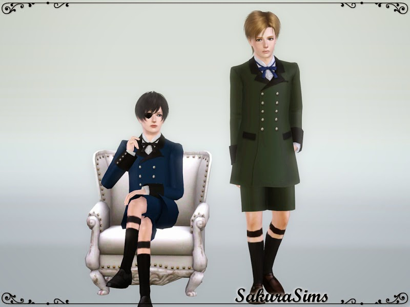Gothic Outfit for Teen Males by Sakura