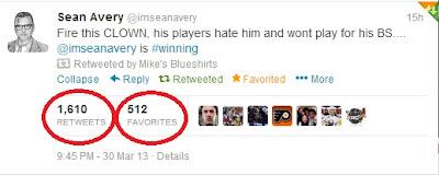 Sean Avery on Twitter: Fire this CLOWN (Tortorella)