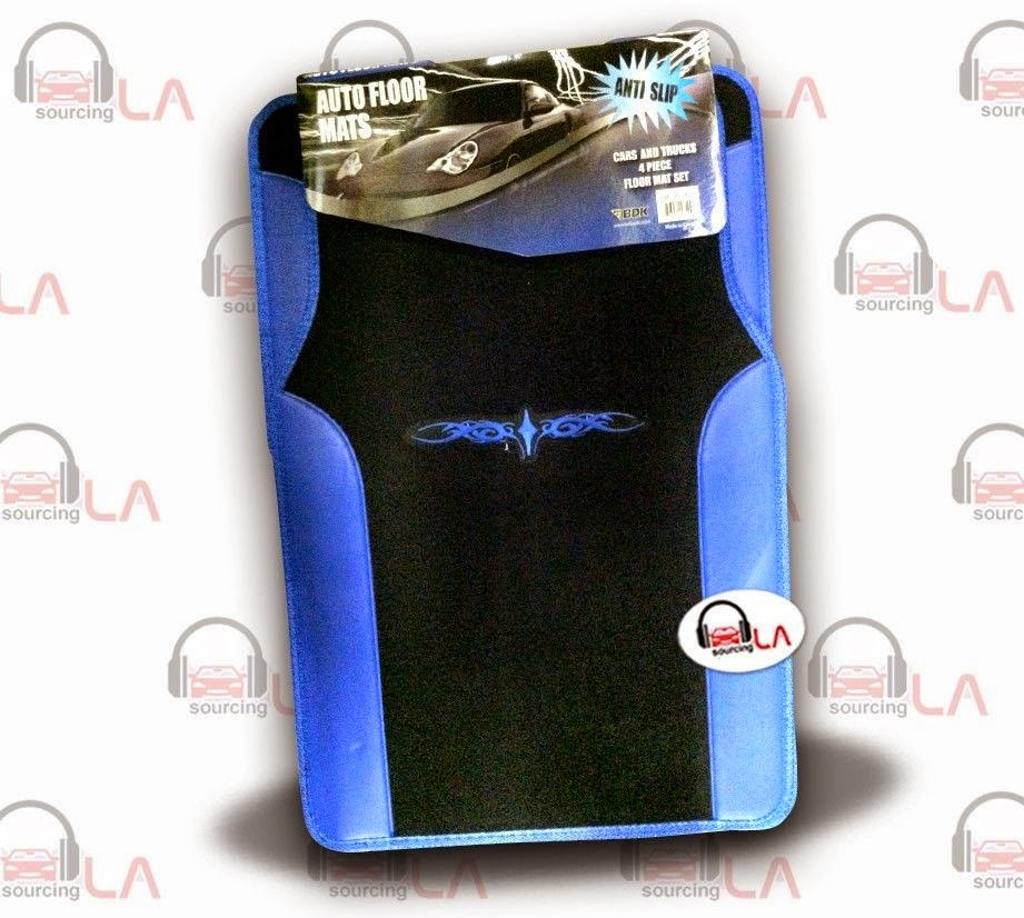 http://www.ebay.com/itm/Two-Tone-Black-Blue-Designer-Car-Auto-Floor-Mats-w-Embroidered-Tattoo-for-Subaru-/131328238130