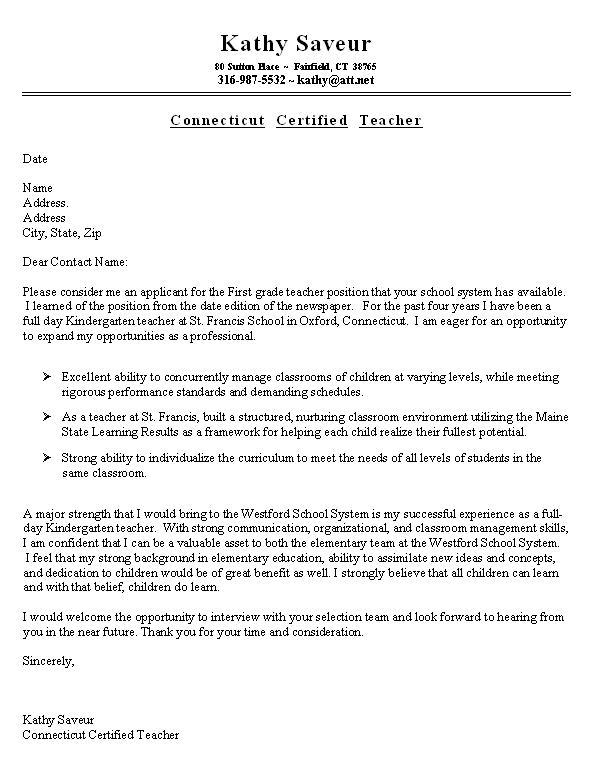 Application letter university lecturer
