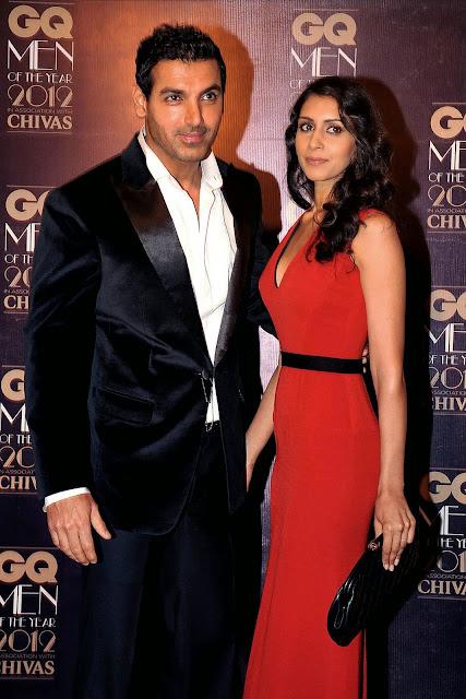 Priya Runchal, John Abraham, Bollywood, Wedding, Marriage, Girlfriend, Bipasha Basu, Showbiz, Entertainment, Most Stylish Man, Award, GQ Men of the Year Awards 2012, Mumbai, India, Film, Actor,