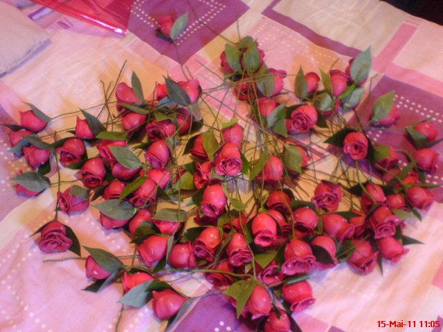 botões de rosas que eu faço