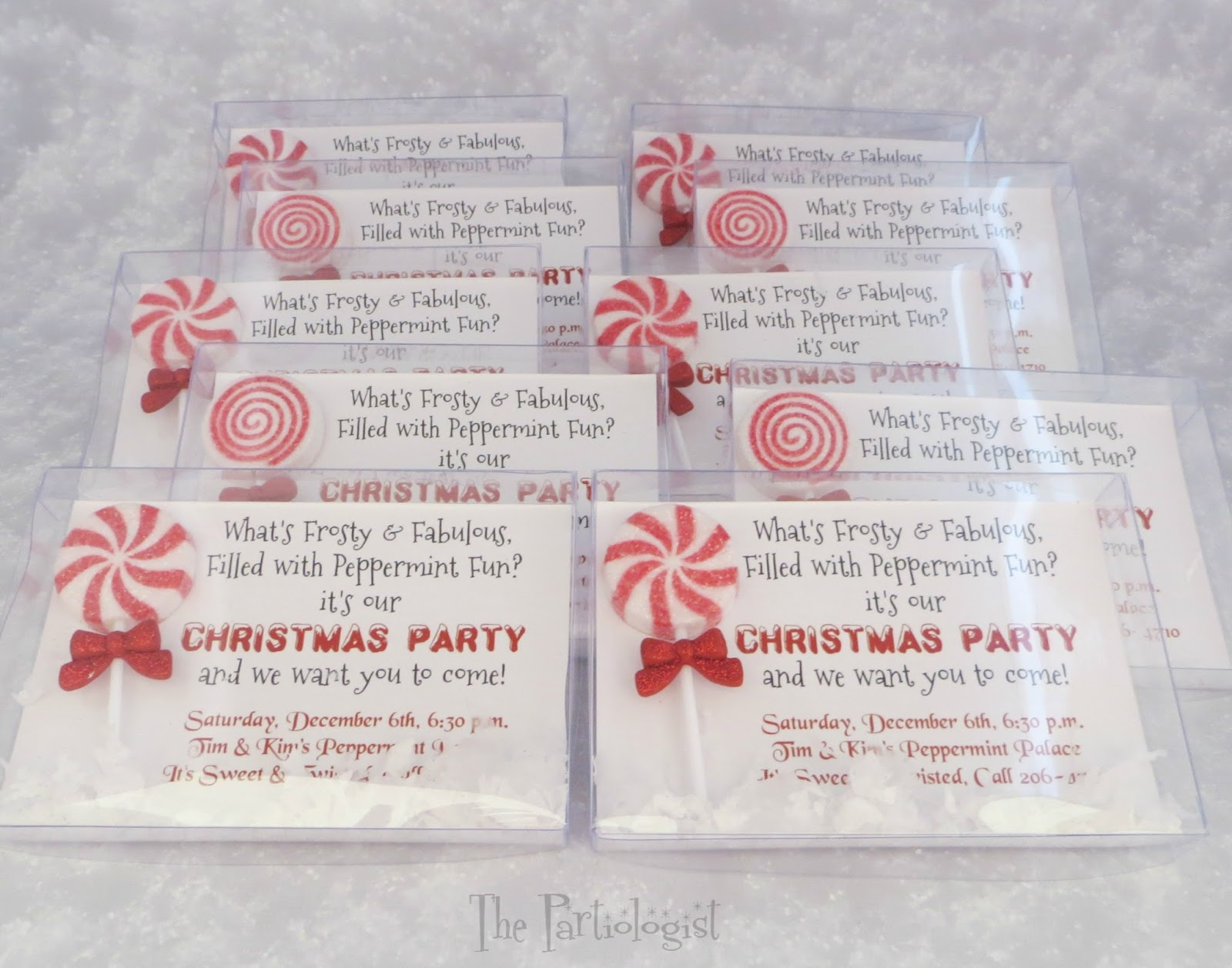 The Partiologist: Peppermint Christmas Invitation!