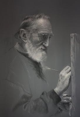 Retratos del artista Ruben Belloso.