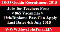 DEO Godda Recruitment 2015