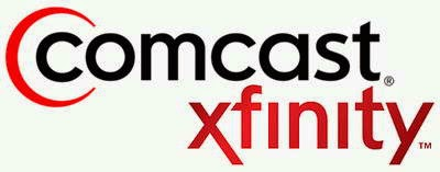 Comcast logo - Their idea of movies just in seems lacking