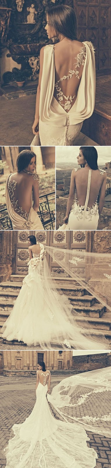 27 Wedding Dresses with Stunning Back Details from 2015 Bridal
