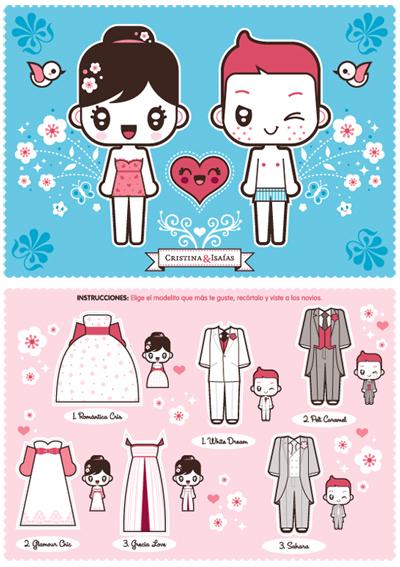 invitaciones de boda ilustracion manga japo blog petite june
