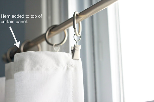 ... curtain rod that I purchased at Target for around $6.00 to hang my