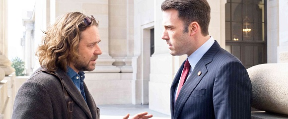 Russell Crowe e Ben Affleck em INTRIGAS DE ESTADO (State of Play)