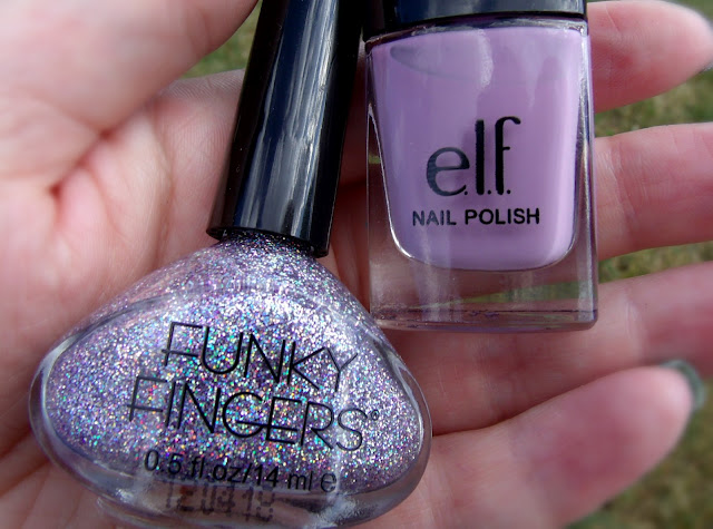 Funky Fingers Sand & Stilettos and e.l.f fuchsa