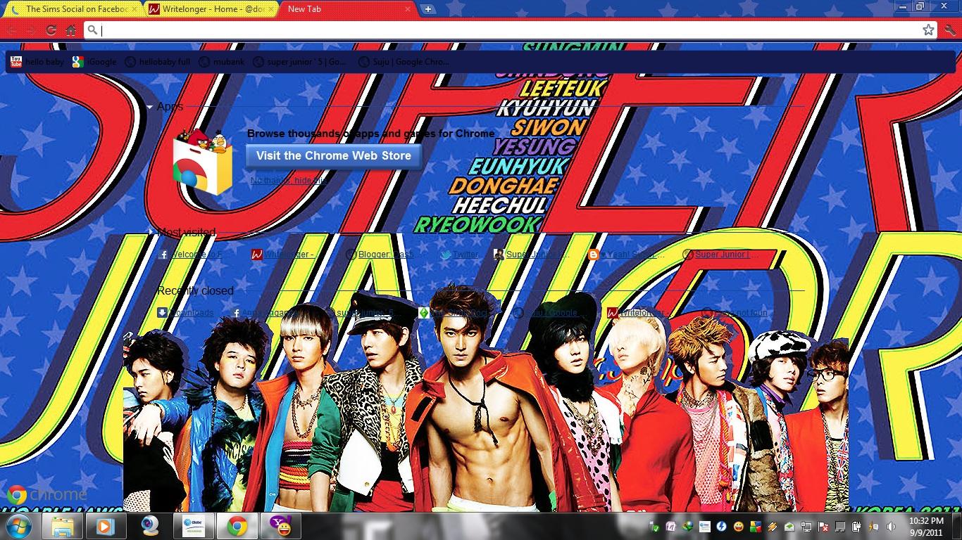 Google themes super junior - Want Super Junior 5jib Google Chrome Theme