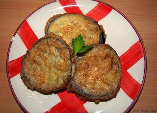 Rodajas de berenjena rellenas de jamón york y queso HortoGourmet