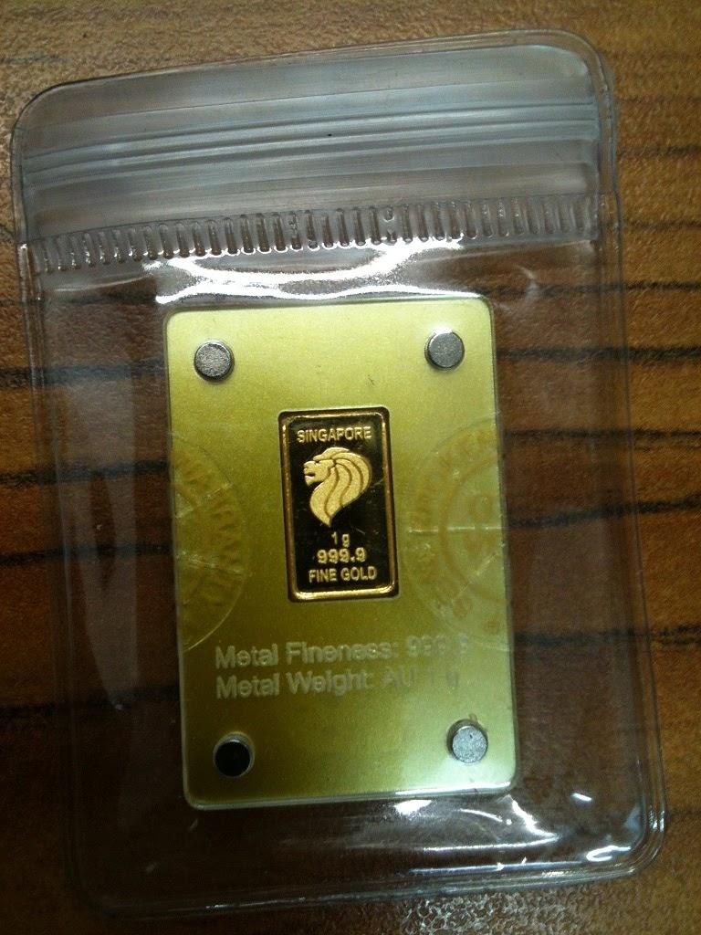 100g gold bar singapore