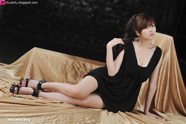2 Jung Se On - Black Mini Dress-very cute asian girl-girlcute4u.blogspot.com