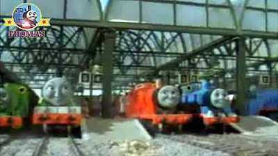 Island of Sodor Knapford station Thomas and engines news that Duck the tank engine was going to help