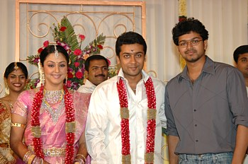 Movie Manchurya Surya And Jhothika Cute Family Photos Rare