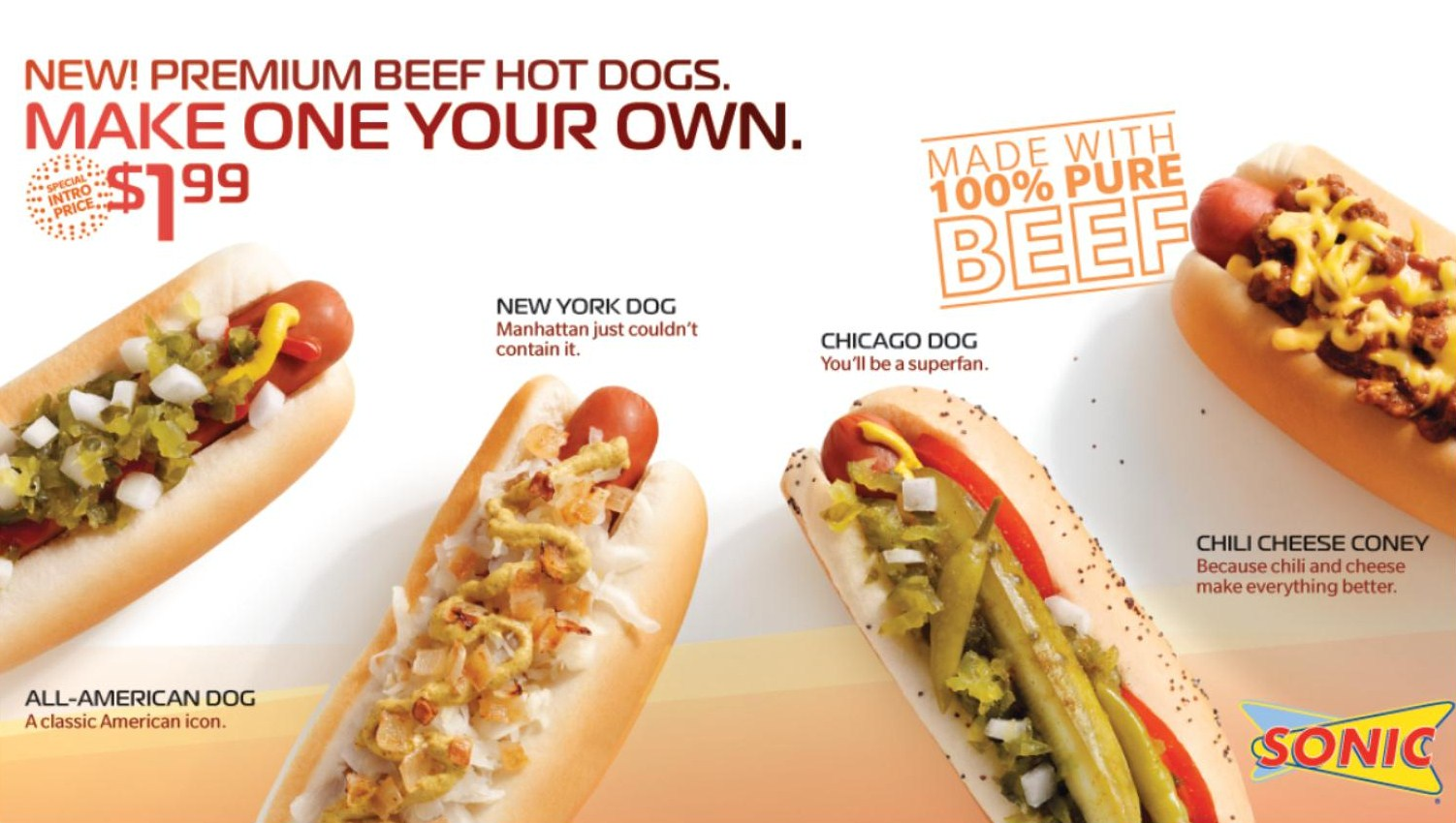 Sonic Menu New Hot Dogs
