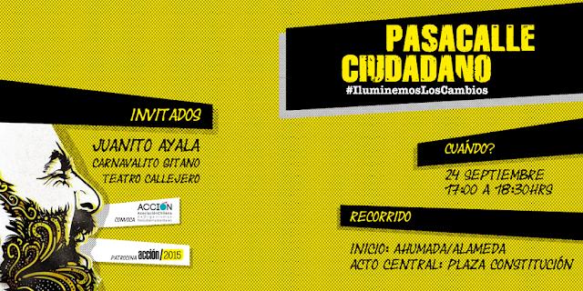 INVITACIÓN Pasacalles Ciudadano por demandas del pueblo de Chile. Súmate por el derecho a la comunicación