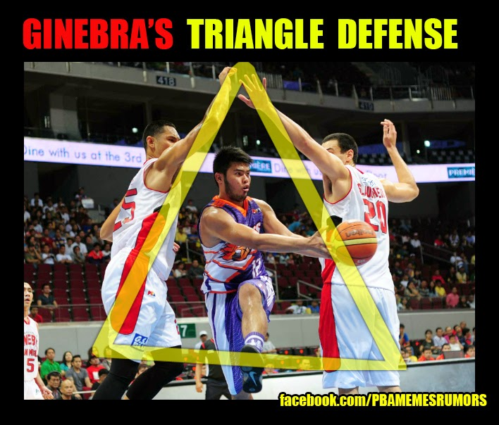 ginebra japeth aguilar gerg slaughter triangle offense defense pba finals 2014 pinoy basketbalista barangay ginebra funny meme 2014