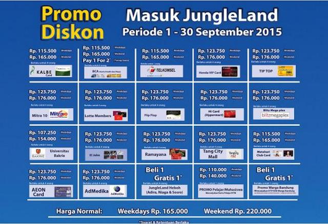 Harga  Promo Tiket Jungleland Bulan September 2015