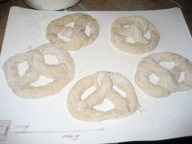 Sour dough pretzels