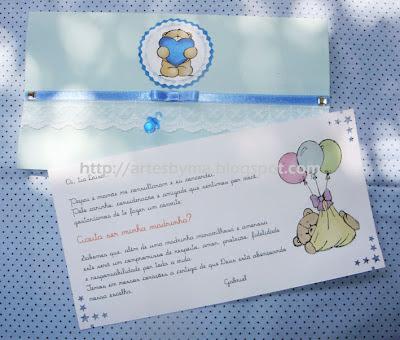 Aqui O Envelope  Feito   Papel Linho Azul
