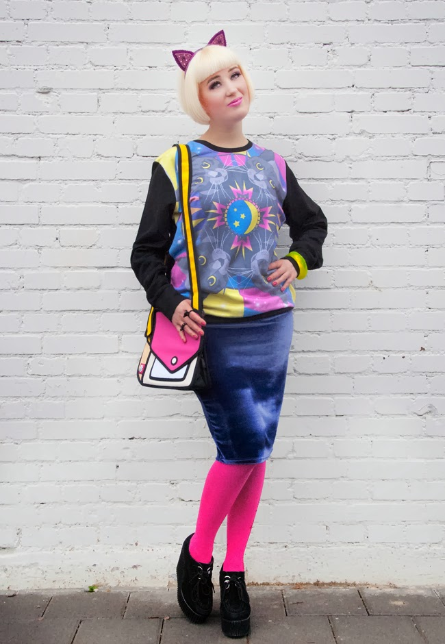 jumpfrompaper, cat outfit, colourful look