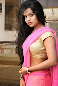 Bhavya Sri Photos in Pink Halfsaree-thumbnail-2