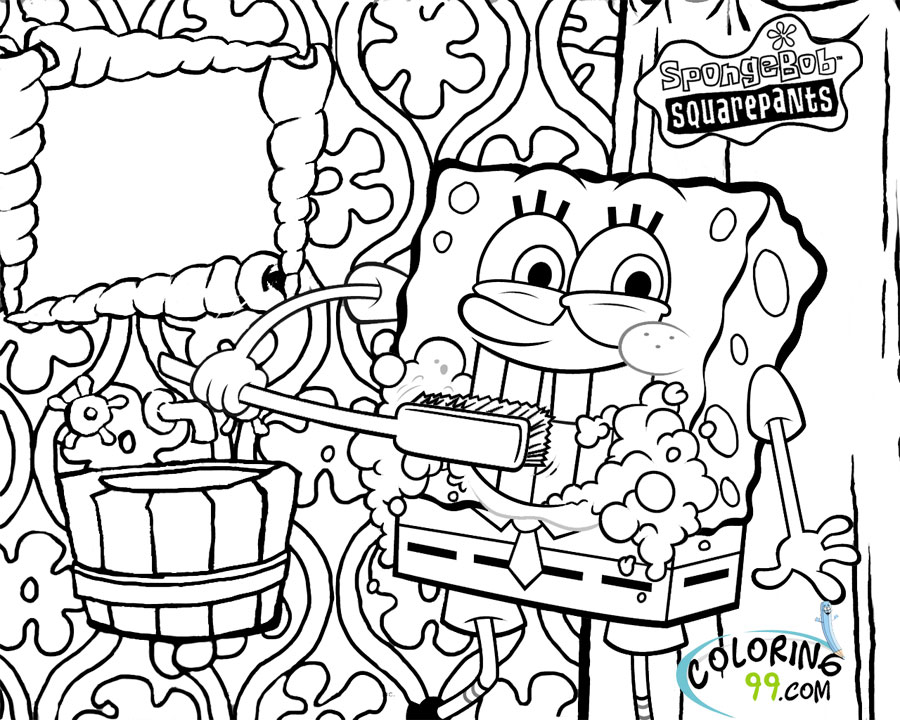 Vibrant image pertaining to printable spongebob coloring pages
