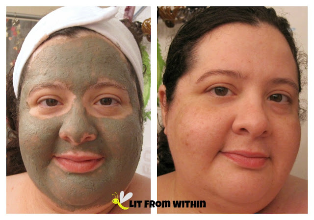 during and after - Adovia Purifying Mud Mask