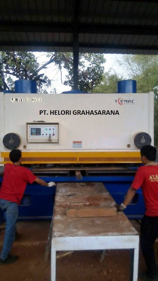 Mesin Shearing Mild Steel Thk 30 MM