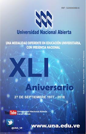 La Universidad Nacional Abierta presenta el afiche oficial del XLI Aniversario.
