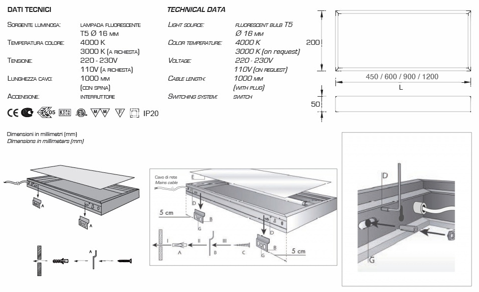 estante luminoso aluminio cocina