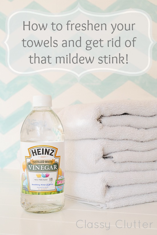 how to freshen your towels and get rid of that mildew stink classy clutter. Black Bedroom Furniture Sets. Home Design Ideas