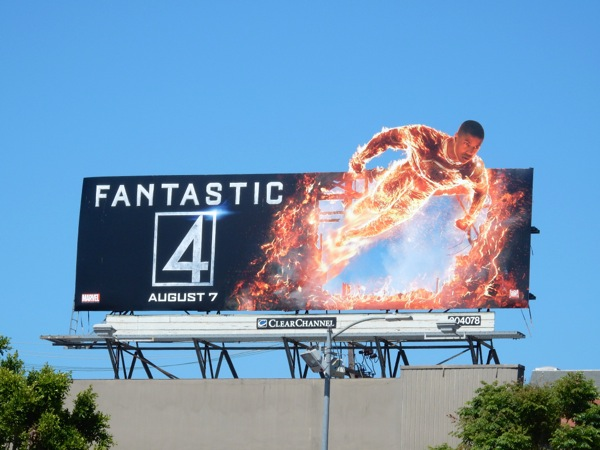 Fantastic 4 Human Torch special billboard