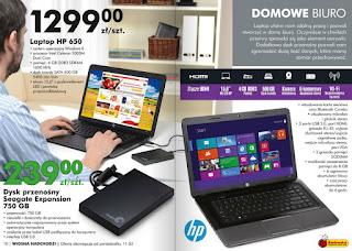 Laptop HP 650 Biedronka ulotka