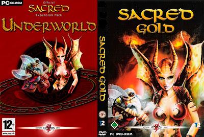 Jogo Sacred Gold+Sacred Underworld PC DVD Capa