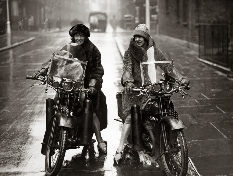 Vintage Photographs Of Women And Motorcycles Gold Is Money The
