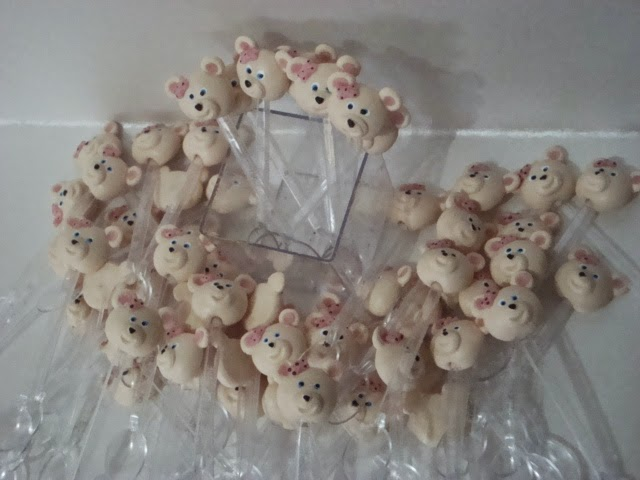 colherzinhas para brigadeiro de copinho ursinhas