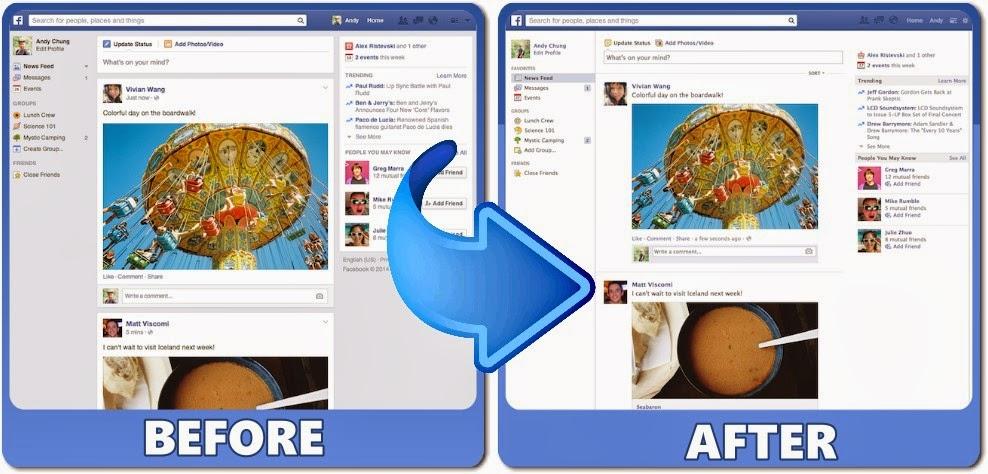 حصريا-طريقة إسترجاع الشكل القديم للصفحة الرئيسية للفيسبوك 2014