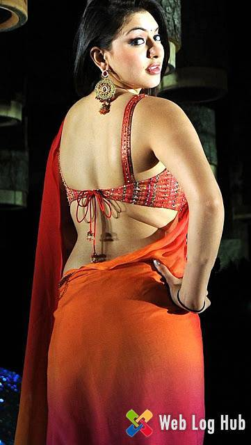 Hansika Motwani Hot Backless and Butts Show in Red Saree - Web Log Hub