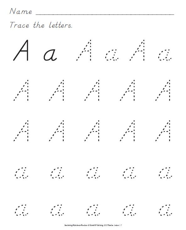 TPT Fonts 4 Teachers Need DNealian Handwriting Worksheets – D Nealian Handwriting Worksheet