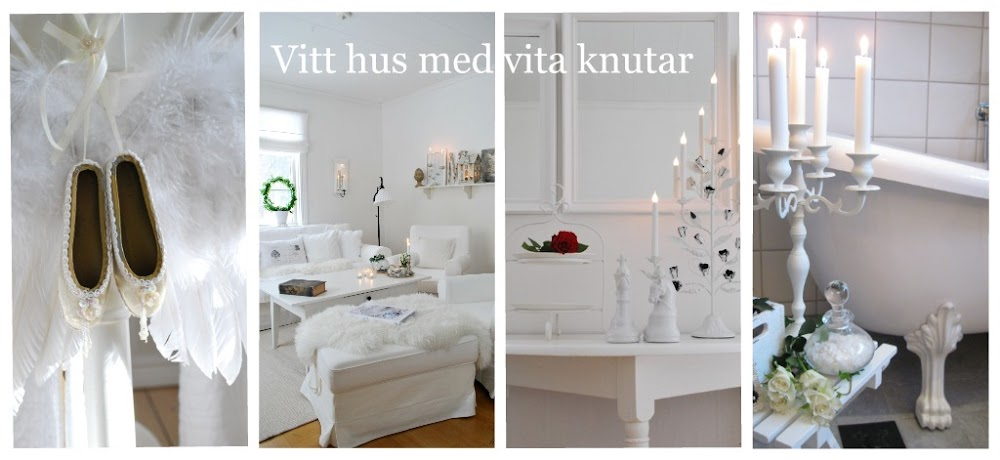 Vitt hus med vita knutar